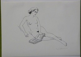 Ex-libris Illustré Belgique XXème - Femme Nue - HANNS HEEREN - Ex Libris