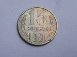 Russie URSS  15 Kopecks 1981   Km# Y131  Cupronickel Zinc  TTB - Russia
