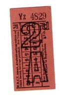 BUS / TRAM TICKETS - K.H.C.T. AREA A - ADVERTISEMENT IN THE BACK - T693 - Biglietti Di Trasporto