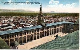Cpa SYRIE Damas   La Grande Mosquée Vers La Belgique - Cartes Postales