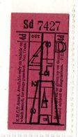 BUS / TRAM TICKETS - K.H.C.T.AREA A - ADVERTISEMENT IN THE BACK - T509 - Biglietti Di Trasporto