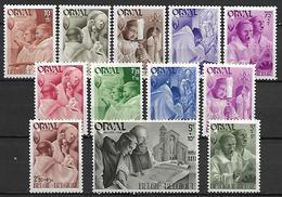 BELGIQUE  -  1941.   Y&T N° 556 à 567 *.  Abbaye D' Orval.  Série Complète. - Neufs