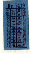 BUS / TRAM TICKETS - K.H.C.T.AREA A - ADVERTISEMENT IN THE BACK - T512 - Biglietti Di Trasporto