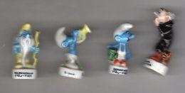 Série 4/16 Fèves Brillantes SCHTROUMPFANIE 1997 Les Schtroumpfs Différente De Celles De 1995 Et De 1996 - Cartoons
