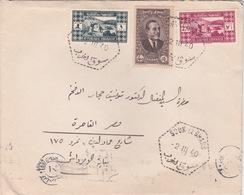 LIBAN LEBANON EGYPTE 1940 CENSURE LETTRE PAR AVION COVER SOUK EL GARB ET ALEY - Grand Liban (1924-1945)