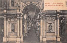 Cartolina Vicenza Teatro Olimpico La Prospettiva Della Scena Anni '10 - Vicenza