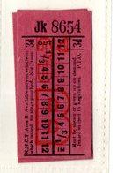 BUS / TRAM TICKETS - K.H.C.T.AREA B - ADVERTISEMENT IN THE BACK - T510 - Biglietti Di Trasporto