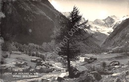 Cartolina Cogne Panorama Con Gran San Paradiso Macchiata - Italy