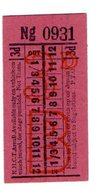 BUS / TRAM TICKETS - K.H.C.T.AREA B - ADVERTISEMENT IN THE BACK - T694 - Biglietti Di Trasporto