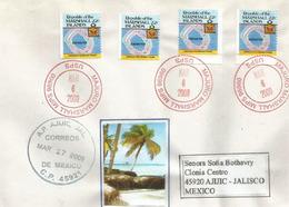 Lettre De L'ile De Majuro. Marshall Islands. Océan Pacifique, Adressée Au Mexique - Marshall