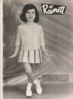 Rare Carte Publicitaire Vêtements Enfants RAINETT Années 50 Model  Ariane Molitor Concorde - Publicité
