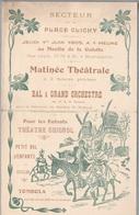 Place Clichy Paris- Au Moulin De La Galette, Matinée Théâtrale,Bal Orchestre,Théâtre Guignol - Jeudi 1er Juin 1905 - Programmes