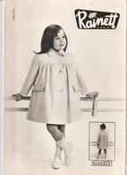 Rare Carte Publicitaire Vêtements Enfants RAINETT Années 50 Model Bijou - Publicité