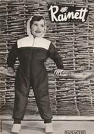Rare Carte Publicitaire Vêtements Enfants RAINETT Années 50 Model Panache - Publicité