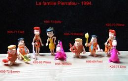 Kinder 1995 : Série Complète FAMILLE PIERRAFEU (9 Figurines) - Dessins Animés