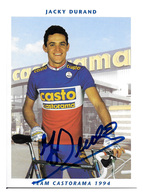 CARTE  CYCLISME JACKY DURAND TEAM CASTORAMA 1994 - Cycling