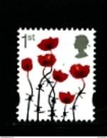 GREAT BRITAIN - 2015  1st POPPY  (SILVER)  EX PRESTIGE BOOKLET  MINT NH - 1952-.... (Elizabeth II)