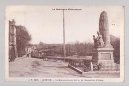 CPA 22- QUINTIN - LE MONUMENT AUX MORTS - LA CHAUSSE ET L'ETANG - Quintin