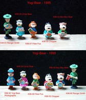 Kinder 1996 : Série Complète YOGI BEAR (12 Figurines) Avec 4 BPZ - Cartoons