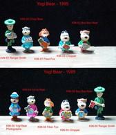 Kinder 1996 : Série YOGI BEAR (11 Figurines) Avec 4 BPZ - Dessins Animés