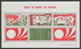 BLOC NEUF DU GABON - COUPE DU MONDE DE FOOTBALL 1974 N° Y&T 23 - Coppa Del Mondo