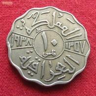Iraq 10 Fils 1938 KM# 103a  *V1  Iraque Irak - Iraq