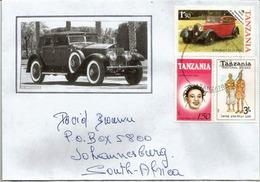 Rolls-Royce 1936, Sur Lettre De Tanzanie, Adressée En Afrique Du Sud - Voitures