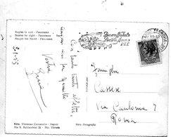 1959  CARTOLINA CON ANNULLO NAPOLI   + TARGHETTA - 6. 1946-.. Repubblica