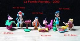 Kinder 2001 : Série Complète FAMILLE PIERRAFEU (6 Figurines) Avec 6 BPZ - Dessins Animés