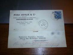 BC6-4-250 Entier Postal 1944 ALidor Avaux Usines Et Boulonneries Du Rond Point Marchienne Au Pont - Cartes Postales