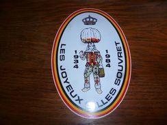 Autocollant Les Joyeux Gilles Souvret 1934 - 1984 - Carnaval - Organisations
