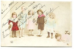 GRUPO DE NIÑOS CHILDREN ENFANTS YEAR 1905 POSTAL CARD CIRCULATED -LILHU - Groepen Kinderen En Familie