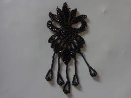 Passementerie Perle Noire Hauteur 13cm - Non Classés