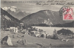 LAC CHAMPEX ET LE GRAND COMBIN - 1911 - VS Valais