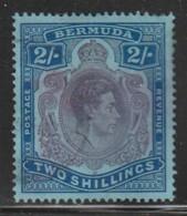 BERMUDES - N° 114 Obl  (1934-41) George VI - 2 Shillings - Bermuda
