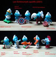 Kinder 2002 : Série Complète SCHTROUMPFS (10 Figurines) Avec 7 BPZ - Dessins Animés