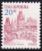 Timbre-poste Gommé Neuf** - Patrimoine Mondial De L'U.N.E.S.C.O. Praha Prague - N° 20 (Yvert) - République Tchèque 1993 - Tchéquie