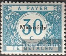 Belgian Post Malmedy P4 With Hinge 1920 Drawing Numbers - WW I