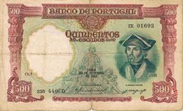 500 ESCUDOS DAMIÃO DE GOES - CHAPA 7 OURO - LISBOA, 29 DE SETEMBRO DE 1942 - BANCO DE PORTUGAL. - Portugal