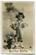 FELIZ CUMPLEAÑOS HAPPY BIRTHDAY NIÑA LITTLE GIRL ENFANT CHILD CIRCA 1900S POSTAL CARD CIRCULATED -LILHU - Taferelen En Landschappen