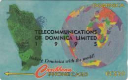 DOMINICA(GPT) - Telecommunications Of Dominica Ltd, CN : 10CDMH, Tirage 9800, Used - Dominica
