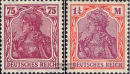 Deutsches Reich 197-198 (completa Edizione) Filigrana Cialde Usato 1922 Germania - Deutschland