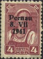 Estland (Dt.Bes.)-Pernau 4II MNH 1941 Stampa/Parnu - Occupation 1938-45