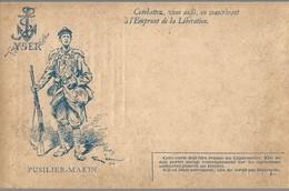 CARTE FRANCHISE MILITAIRE + EMPRUNT DE LA LIBERATION - FUSILIER MARIN - NON ECRITE - TTBE - Marcophilie (Lettres)