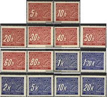 Bohemia And Moravia P1-P14 (complete Issue) With Hinge 1939 Postage Stamps - Bohemia & Moravia