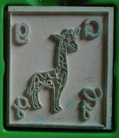 Tampon Bois, Animal, Girafe, Lettre Alphabet G - Dessin Pour Enfant, Coloriage, Illustration - Loisirs Créatifs