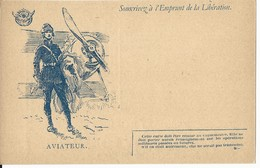 CARTE FRANCHISE MILITAIRE + EMPRUNT DE LA LIBERATION - AVIATEUR - NON ECRITE - TTBE - Marcophilie (Lettres)