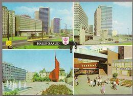 BRD - AK : Halle (Saale) - Interhotel, Thälmann-Platz - Halle (Saale)