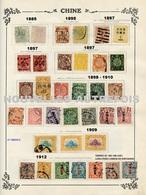 LOT TIMBRES DE CHINE (1885 à 1933) - MANDCHOURIE,HONG KONG,BUREAUX FRANCAIS,ALLEMANDS,JAPONAIS,RUSSES - A NE PAS MANQUER - Chine