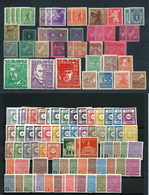 Germany, Sovjet Occupation After WW2,huge Unused Party On 5 Big Stock-cards, Better Stuff As Well,LH  (as Per Scan) - Soviet Zone